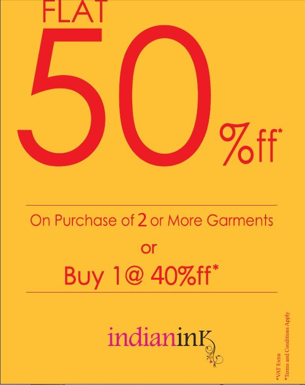 offers at Indian Ink